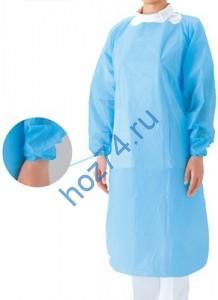 Одноразовый халат с манжетой