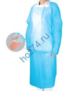 Одноразовый халат с прорезью для большого пальца