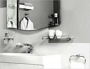 Настенные аксессуары для ванной комнаты