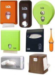 Диспенсеры Lime. Бумажная продукция и мыло