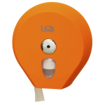 оранжевый диспенсер для туалетной бумаги