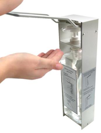 локтевой дозатор металлический